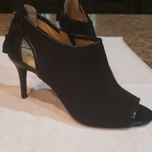 Michael Kors Peep-Toe Boots (black)